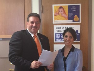 State Senator Joe Addabbo Jr., and Middle Village's Christina Gdisis