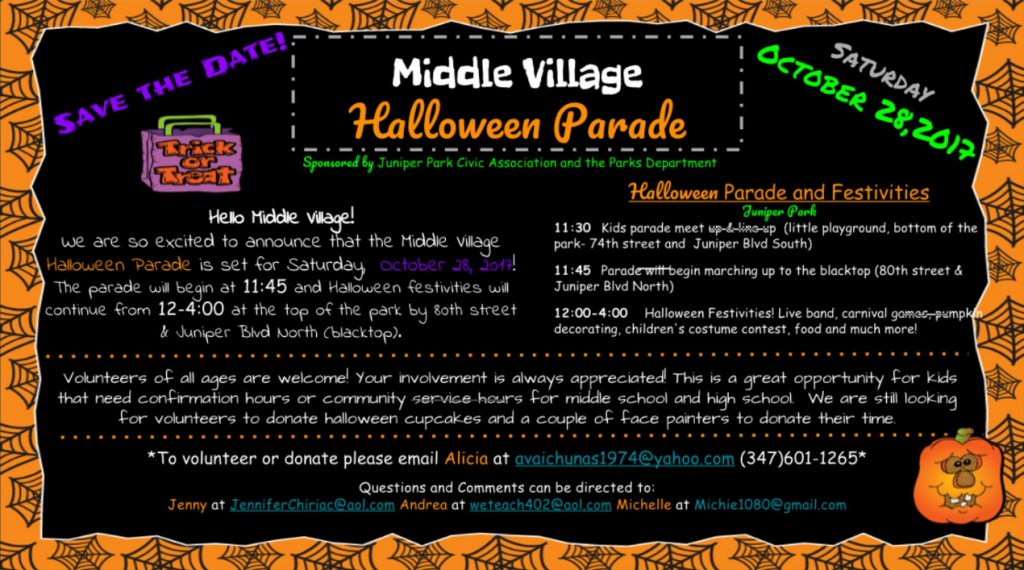 Middle Village Halloween Parade